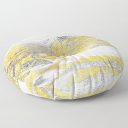 Silver and Gold Marble Design Floor Pillow