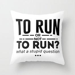 Runners Run Running Is Life Design Throw Pillow