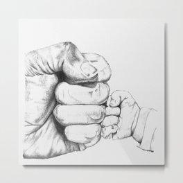 Baby fist bump Metal Print
