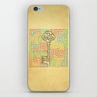 maze runner iPhone & iPod Skins featuring maze by gazonula