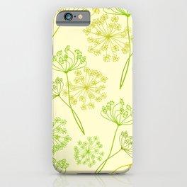 Modern summer flower art. Wild herbs. Plants. iPhone Case