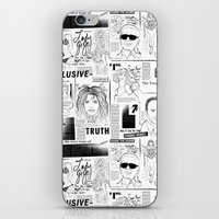 scandal iPhone & iPod Skins featuring POP SCANDAL by Christopher Lee Sauvé