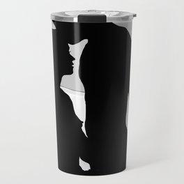 Lovers Black and White Travel Mug
