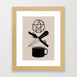 DELUXEWITCH Tarot Suits Framed Art Print