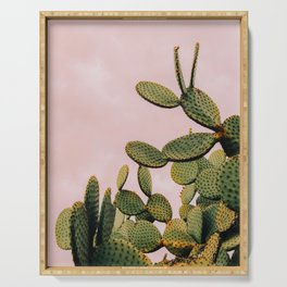 Cactus on Pink Sky Serving Tray