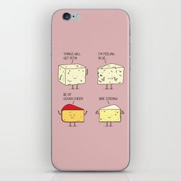 cheesy puns iPhone Skin