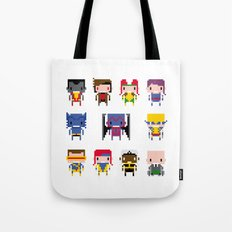 Pixel X-Men Tote Bag