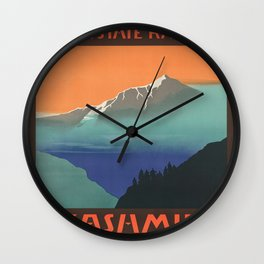Vintage poster - Kashmir Wall Clock