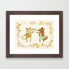 Cheers! From Pinknose the Opossum & Riley the Raccoon Framed Art Print