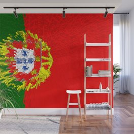 Extruded flag of Portugal Wall Mural