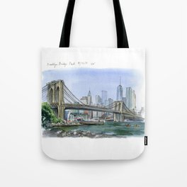 Brooklyn Bridge in August Tote Bag