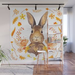 Autumn Rabbit Wall Mural