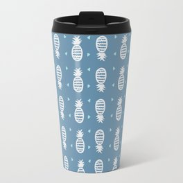Pineapple Pattern Cool Blues Travel Mug