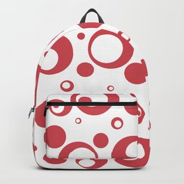 Circles Dots Bubbles :: Inverse Berry Blush Backpack