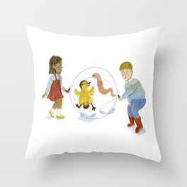spring skipping rope Throw Pillow