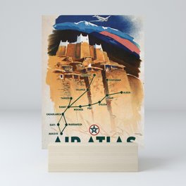 Werbeposter Air Atlas Casablanca Maroc Mini Art Print