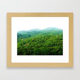 Green Hills of Hakone Framed Art Print