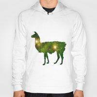 llama Hoodies featuring Llama by Lucas de Souza