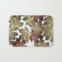 Faded Autumn Leaves Bath Mat