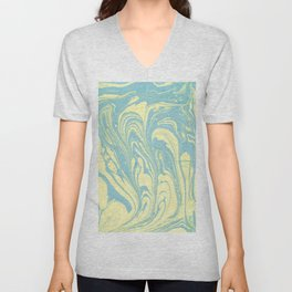 Marble of Yellow & Green Unisex V-Neck