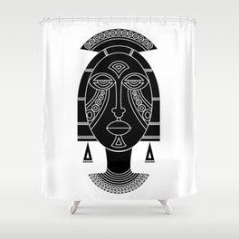 Mask I Shower Curtain