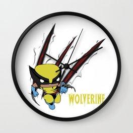 Scratch Wolve Wall Clock