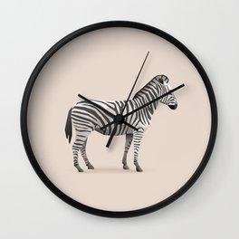 Geometric Zebra - Modern Animal Art Wall Clock