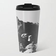 Black & White Mountains Metal Travel Mug