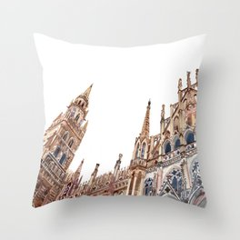 New Town Hall in Munich Throw Pillow
