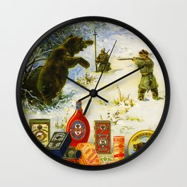 Vintage Russian Gunpowder Advertisement Wall Clock