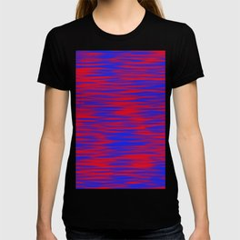 Blue & Red Water Pattern T-shirt