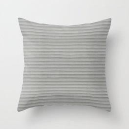 Smooth Gray Concrete Stone Horizontal Line Industrial Texture Throw Pillow