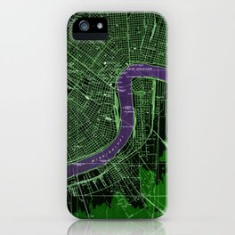 New Orleans Louisiana 1932 vintage old beautiful map iPhone Case