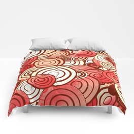 Layered random circles Comforters