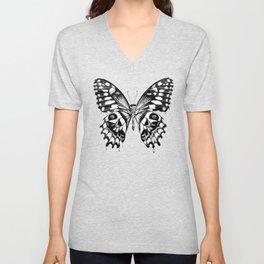 black butterfly Unisex V-Neck
