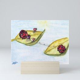 Ladybug Lovers - Watercolor Mini Art Print