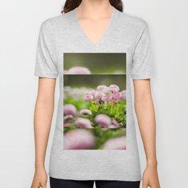 Bellis perennis pomponette called daisy Unisex V-Neck