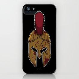 Spartan Helmet in Bloodstain | Warrior Workout iPhone Case