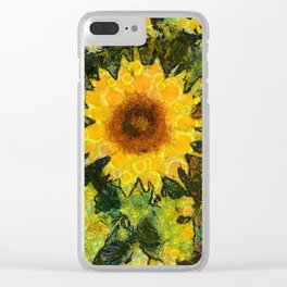 you can't have enought sunflowers Clear iPhone Case