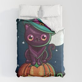 Ferociously Cute Halloween Vampire Witch Kitty Cat Comforters
