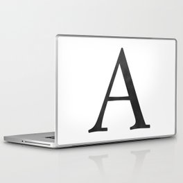 Letter A Initial Monogram Black and White Laptop & iPad Skin