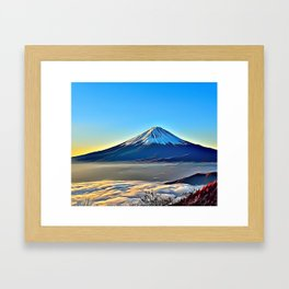 Mountain Peak Airbrush Artwork Framed Art Print