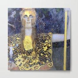 Gustav Klimt Pallas Athene Metal Print