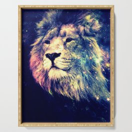 Galaxy Lion : Deep Pastels Serving Tray