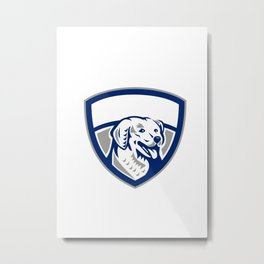 Kuvasz Dog Head Crest Retro Metal Print