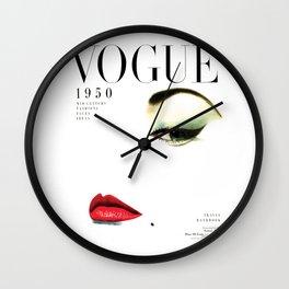 Fashion Print Gift Women Vogue Print Vogue Cover vogue cover 1950 Fashionista Fashion Decor Wall art Wall Clock