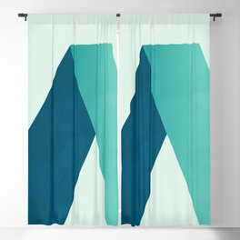 Summer Mid Century Modern Geometric Abstract zen 009 Blackout Curtain