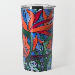 Birds of Paradise in Blue After Matisse Travel Mug