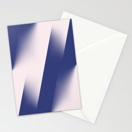 Navy Blue and Pink Diagonal Color Block Ombre Stationery Cards