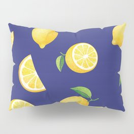 Lemons on Navy Pillow Sham